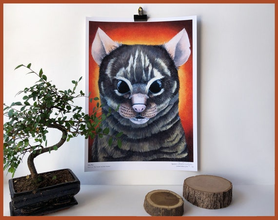 Felis Mus Limited Edition Print Part 5 of The Hunter and the Hunted Cat and Mouse Animal Portrait