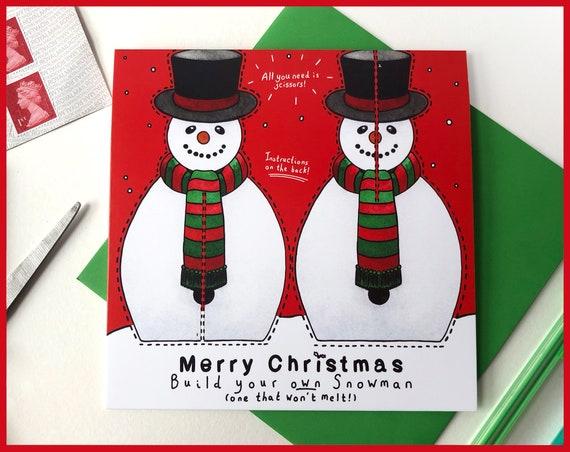 Make Your Own Snowman Christmas Card - Send more than a card! Crafting, Maker, Secret Santa, christmas cards, xmas card, snowman card