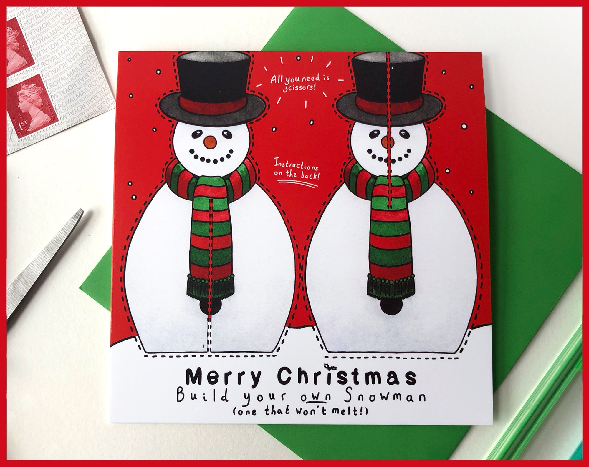 Make Your Own Snowman Christmas Card - Send more than a card ...