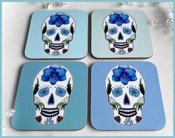 'Winter' Sugar Skull Coasters