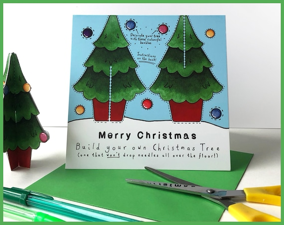 Make Your Own Christmas Tree Card - Send more than a card! Crafting, Maker, Secret Santa, christmas cards, xmas card, christmas tree card