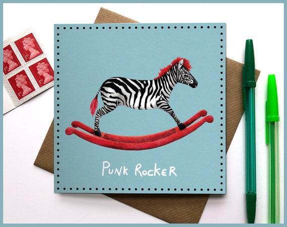 Punk Rocker Greeting Card