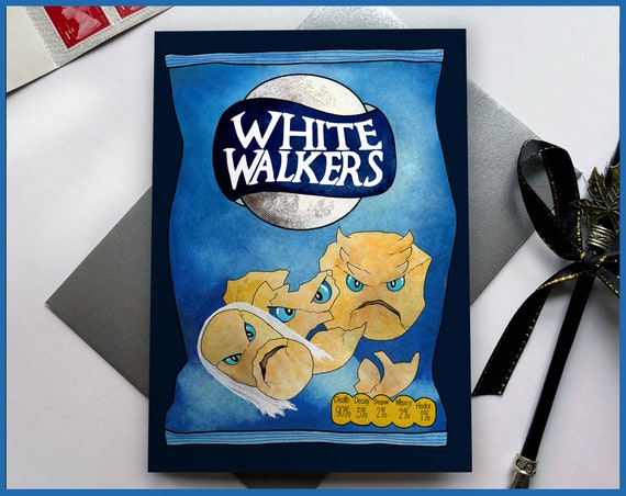 White Walkers Game of Thrones Greeting Card