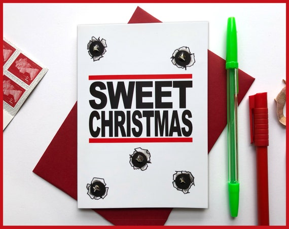 Sweet Christmas - Luke Cage Inspired Christmas Card, Bullet proof, comic book card, comic book character card, Netflix Christmas card