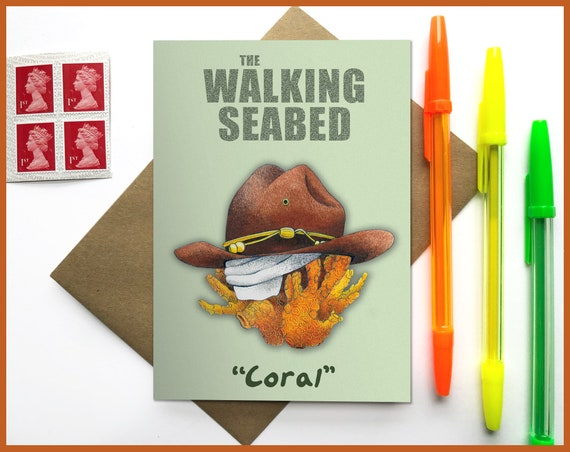 The Walking Dead -  Carl 'Coral' Rick Grimes Meme Greetings Card