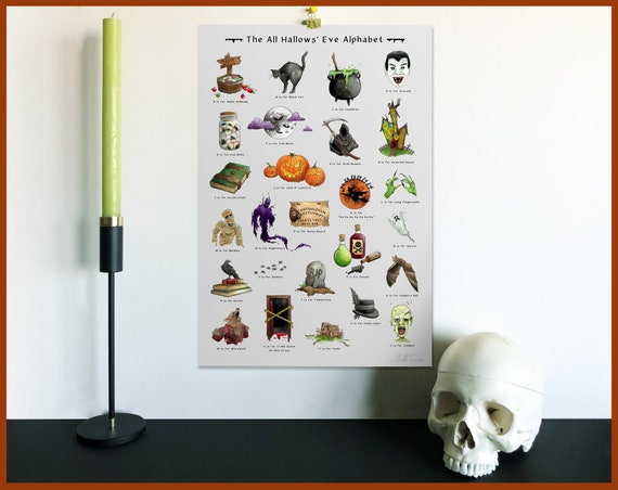 The All Hallow's Eve Alphabet Print