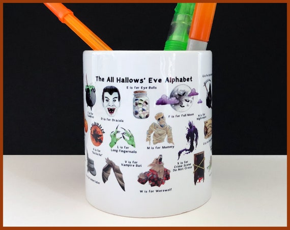 The All Hallow's Eve Alphabet Pencil / Plant Pot