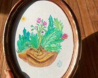 Frijolita - Original Framed Painting