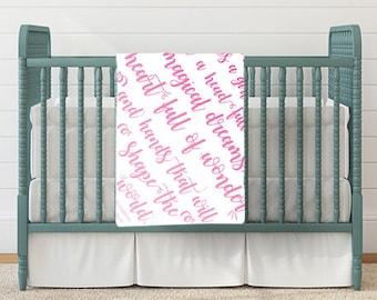 Baby Girl Blanket - Custom Blanket - Baby Shower Gift - Baby Boy Blanket - Baby Girl Blanket - Baby Blanket Quote
