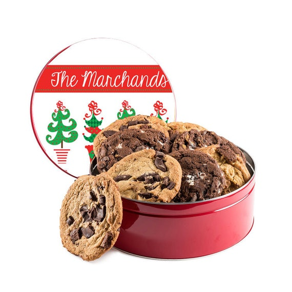 Personalised Engraved Christmas Storage Tin Xmas Family Cookies ANY ENGRAVING
