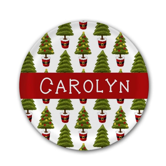 Christmas Plates.Christmas Tree Plate Personalized Melamine Plate Holiday Plate Custom Holiday Plate Family Christmas Gift Christmas Tree Plate