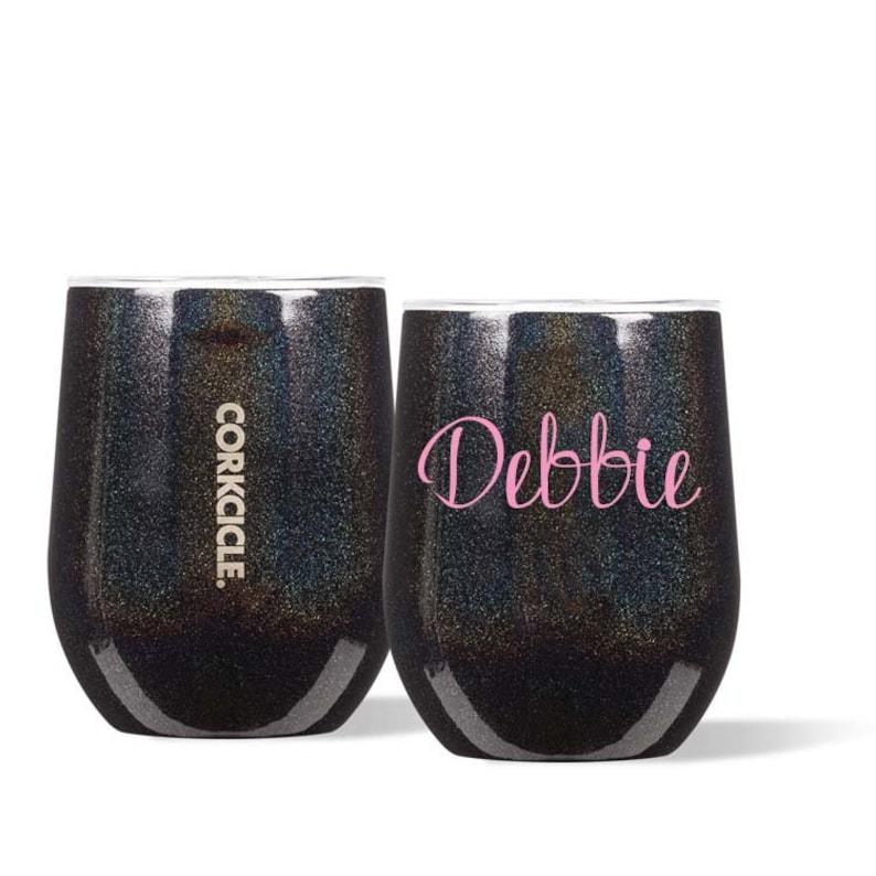 d81902ecce29 Personalized Stardust Corkcicle Stemless Wine Unicorn Magic | Etsy
