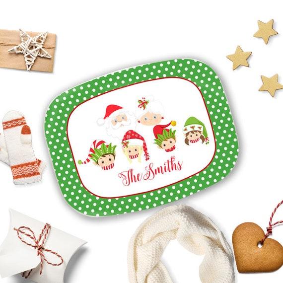 Melamine Christmas Platters.Christmas Serving Tray Personalized Melamine Platter Elf Familyplatter With Name Personalise Christmas Gift For Her