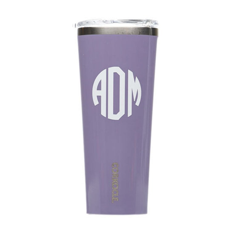 bdea06ed660 Purple Personalized Corkcicle Tumbler Monogram Lavender | Etsy
