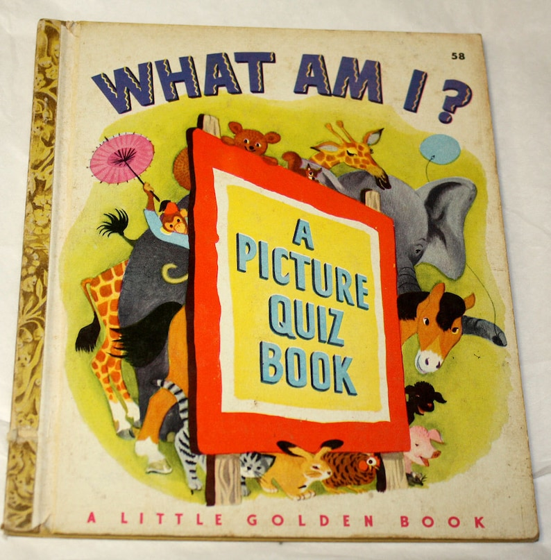 1949 What Am I? A Little Golden Book - B Edition A Picture Quiz Book