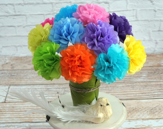 Mini Tissue Paper Flowers (24 count) Choose Your Own Colors