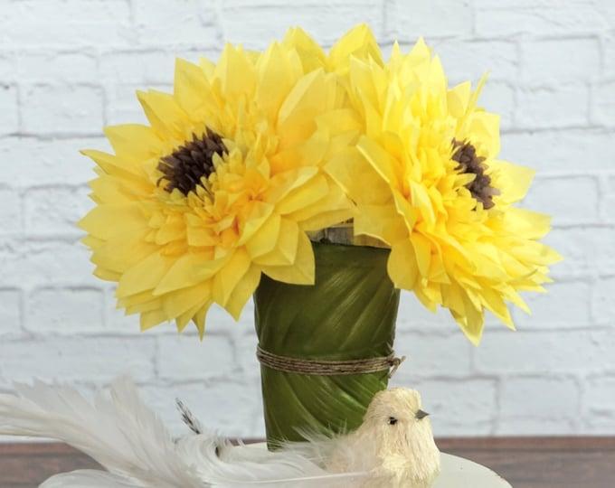 Large Sunflowers Set of Three 7 Inch