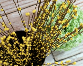 Yellow berry spray (5 stems)