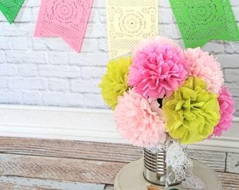 Fiesta Tissue Paper Flower Bouquet Cactus Inspired