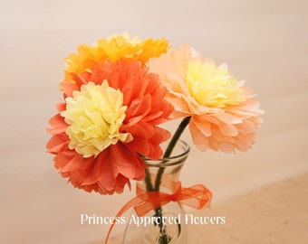 Fall/Autumn Tissue Paper Flowers