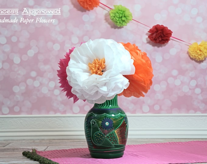 Tissue Paper Flowers Large with Centers Choose Your Own Colors