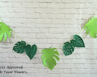 Large Tropical Leaves Banner