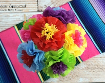 NEW - Fiesta Cinco de Mayo Bouquet Handmade Tissue Paper Flowers