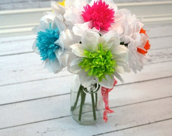 Tissue Paper Flowers Bouquet of Six