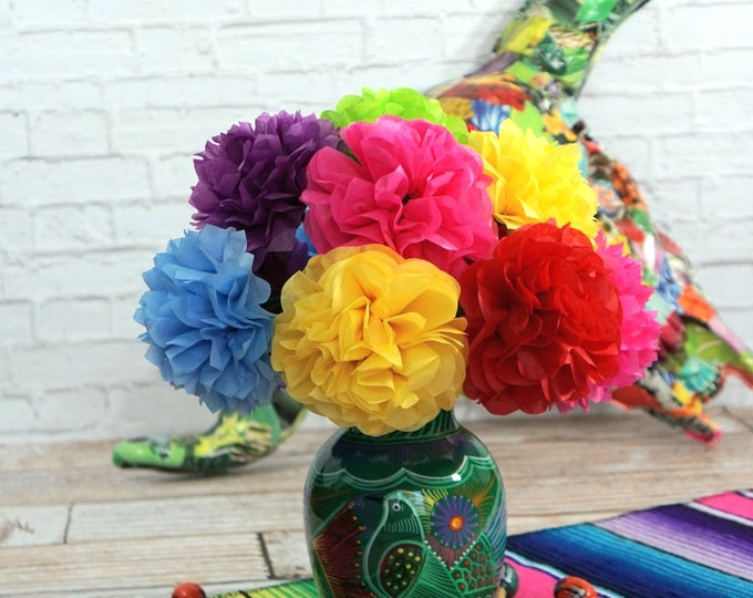 NEW - FIESTA Tissue Paper Flowers (12 count)