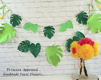 Large & Small Tropical Leaves Banner Set