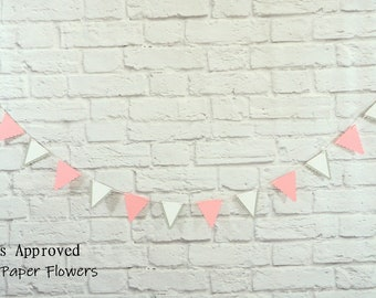 Pink Mini Scallop Edge Pennant Banner