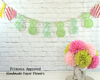 Pineapple Banner with ribbon embellishments
