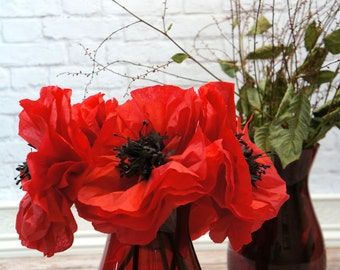 Poppies Mixed Size Bouquet