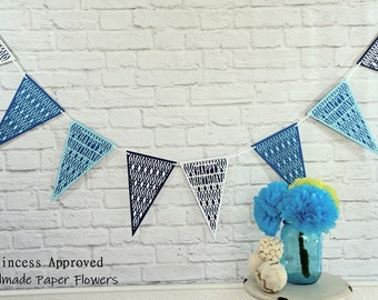 Blue Birthday Banner
