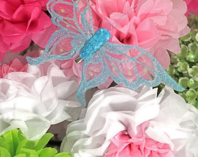 Butterfly Clip - Blue