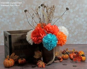 NEW DESIGN Fall/Autumn Handmade Paper Flowers