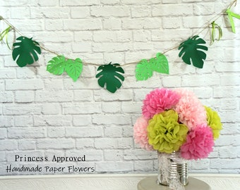 Small Tropical Leaves Banner