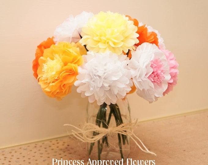 Autumn / Fall Bouquet Tissue Paper Flowers