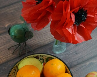 Red Poppies Seven Inch Set of Three