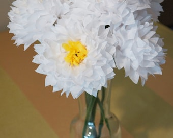 Beautiful Spring Paper Flowers with Recessed Centers
