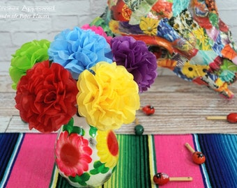 FIESTA Tissue Paper Flowers (6 count)