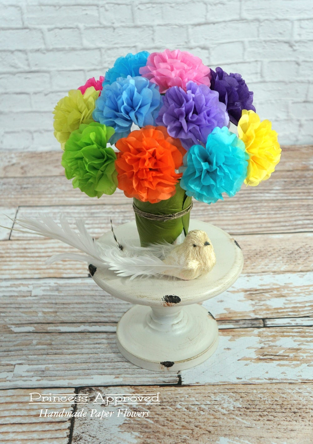 Mini Tissue Paper Flowers 12 Count Choose Your Own Colors
