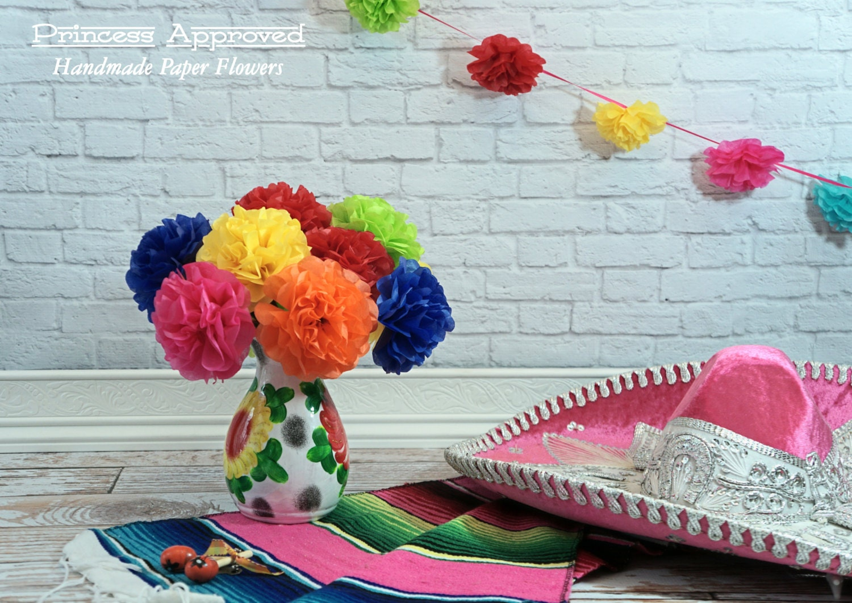 Fiesta Tissue Paper Flowers 12 Count
