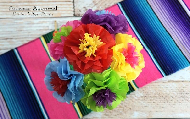 NEW Fiesta Cinco de Mayo Bouquet Handmade Tissue Paper Flowers