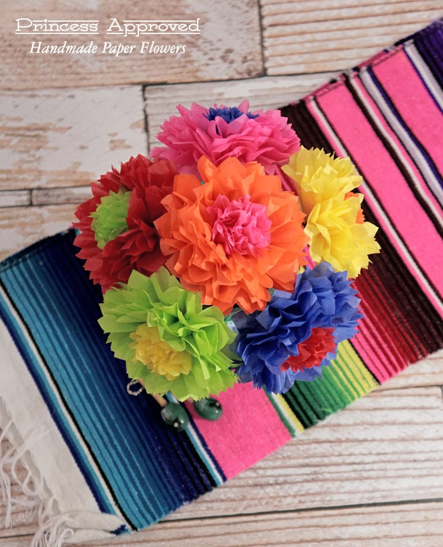 Fiesta Cinco De Mayo Bouquet Handmade Tissue Paper Flowers