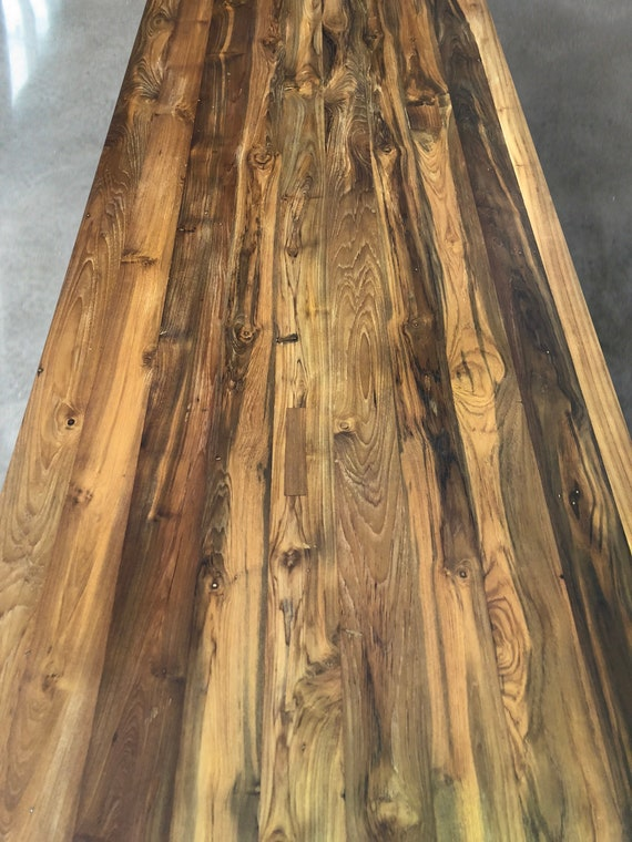 Reclaimed Teak Wood Table Tops 2 Thick Multiple Sizes Available Handcrafted Eco Friendly Dining Table Top Restaurant Table Top