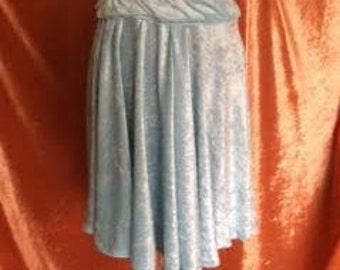 Ava Crushed Velvet Skirt-Frost