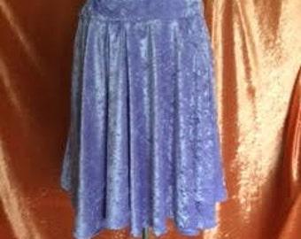 Ava Crushed Velvet Skirt-Lavender
