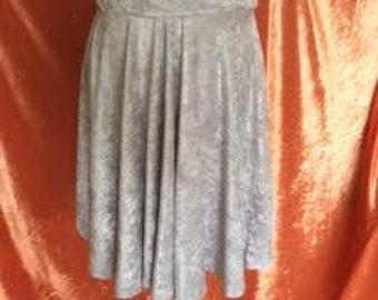 Ava Crushed Velvet Skirt-Grey