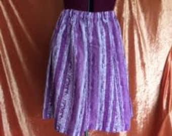 Ivy Gathered Skirt-Purple
